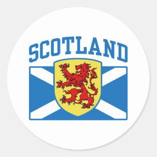 Escocia Etiquetas Redondas