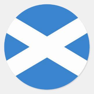 Escocia Pegatina Redonda