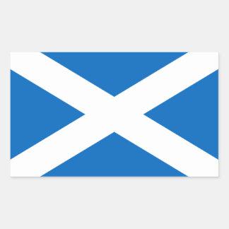 Escocia/pegatinas escoceses de la bandera pegatina rectangular