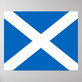 Escocia/poster escocés de la bandera