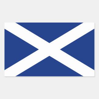Escocia Rectangular Pegatinas