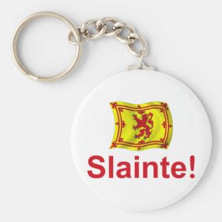 ¡Escocia Slainte! Llavero Redondo Tipo Pin