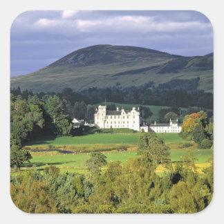 Escocia, Tayside, castillo de Blair. En una Pegatina Cuadradas