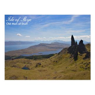 Escocia - viejo hombre de postal de Storr