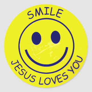 Escoda Jesus Loves You Pegatina Redonda