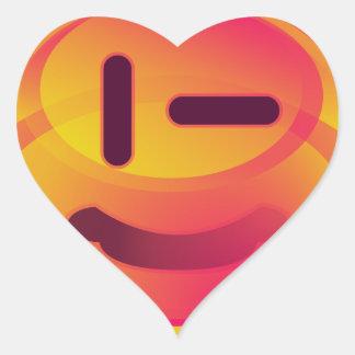 Escodas anaranjado - p' titoko pegatina en forma de corazón