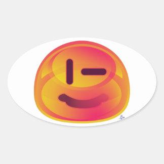 Escodas anaranjado - p' titoko pegatina ovalada
