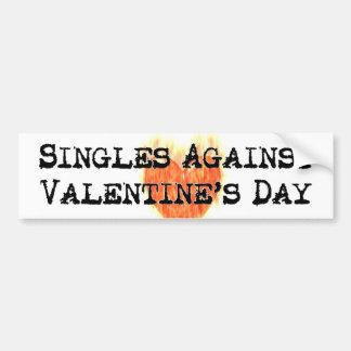 Escoge contra el pegatina del el día de San Valent Pegatina Para Auto