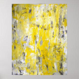 """""""Escogiendo alrededor"""" de arte abstracto gris y Póster"""