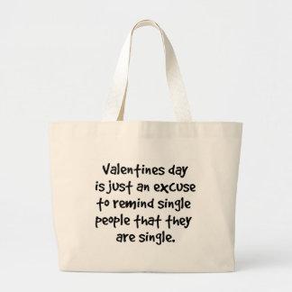 Escoja el día de San Valentín Bolsa Tela Grande