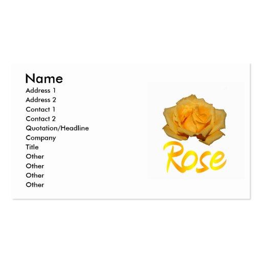 """Escoja el rosa amarillo con """"subió"""" en amarillo y  tarjetas de visita"""