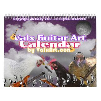 Escoja este calendario de ValxArt de la guitarra