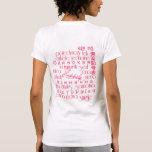 Escoja feliz hablado 'alrededor del mundo/de las camiseta