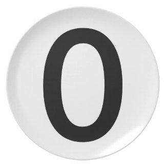 Escoja la placa cero del arte plato