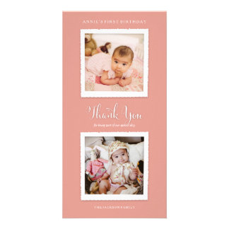 Escoja su foto de color le agradecen cardar tarjetas personales con fotos