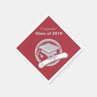Escoja su graduación de la plata del color de servilleta de papel