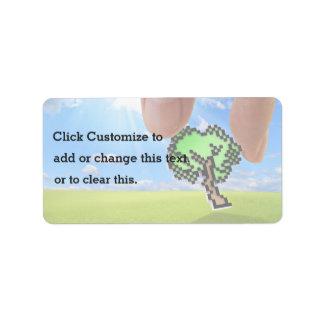 Escoja un árbol del pixel etiqueta de dirección
