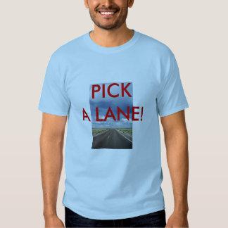 ¡ESCOJA UN CARRIL! Camiseta Remeras