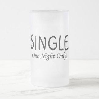 Escoja una noche solamente taza de cristal