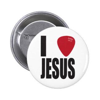 Escojo el botón de Jesús Pin Redondo De 2 Pulgadas