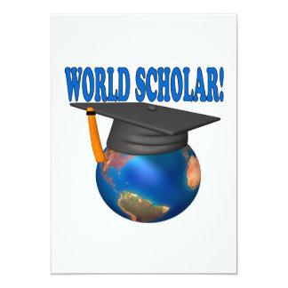 """Escolar 4 del mundo invitación 5"""" x 7"""""""
