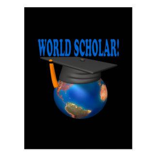 Escolar 4 del mundo tarjetas postales