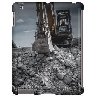 Escombros de la demolición del equipo de la retroe funda para iPad