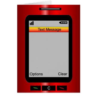 ¡Esconda… Custume su propio mensaje de texto! Tarjeta De Felicitación