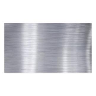 """Esconda el """"falso aluminio de aluminio cepillado """" plantilla de tarjeta de negocio"""