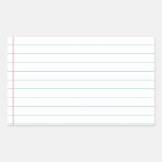 Esconda el papel alineado pegatina rectangular