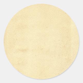 Esconda el vintage de papel antiguo amarilleado pegatina redonda