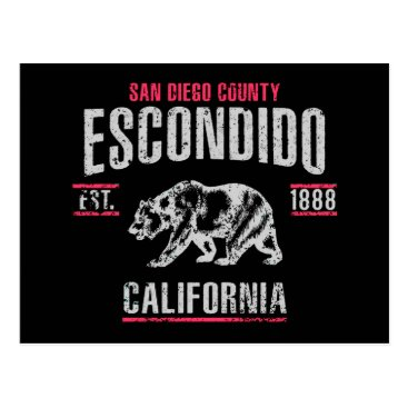 USA Themed Escondido Postcard