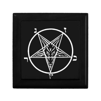 Escondite de Satan del metal/caja de regalo negros