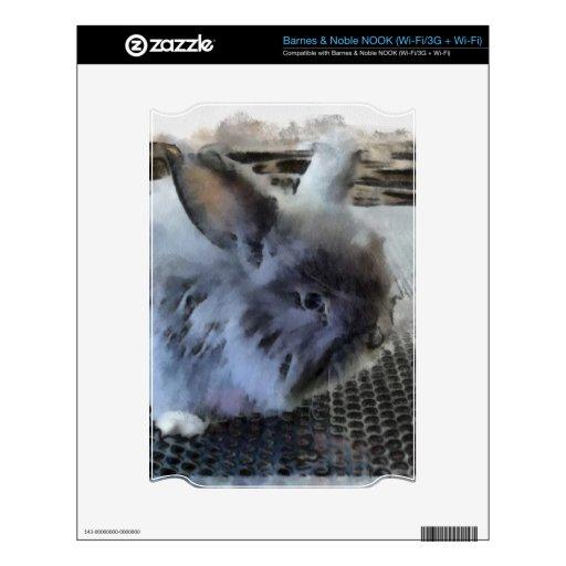 ESCONDRIJO de Barnes & Noble del conejo (Wi-Fi/3G  Calcomanía Para El NOOK