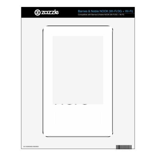 ESCONDRIJO de Barnes & Noble (Wi-Fi/3G + Plantilla NOOK Skin