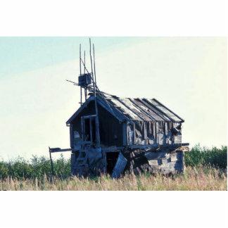 Escondrijo de madera derecho esculturas fotográficas