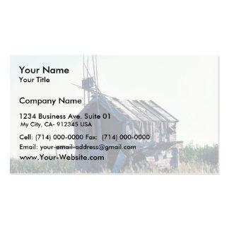 Escondrijo de madera derecho tarjetas de visita