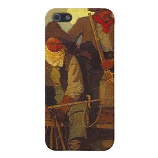 Escopeta del montar a caballo en el vaquero Iphone iPhone 5 Funda