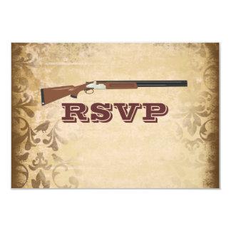 """Escopeta divertida que casa las tarjetas de RSVP Invitación 3.5"""" X 5"""""""
