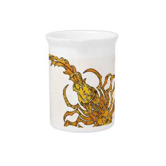 Escorpión 01 de la mandala jarras para bebida