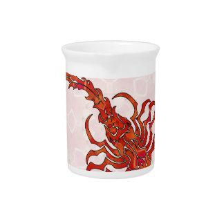 Escorpión 03 de la mandala jarra para bebida