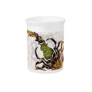 Escorpión 05 de la mandala jarra para bebida