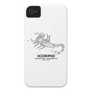 Escorpión 23 de octubre - 21 de noviembre iPhone 4 Case-Mate protectores