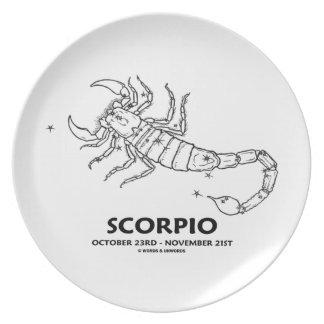 Escorpión (23 de octubre - 21 de noviembre) plato de cena