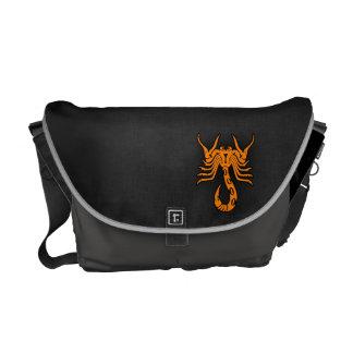 Escorpión anaranjado bolsa de mensajería