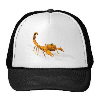 Escorpión anaranjado gorros