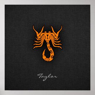 Escorpión anaranjado poster