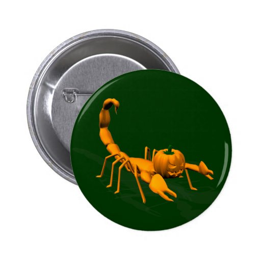 Escorpión anaranjado pin