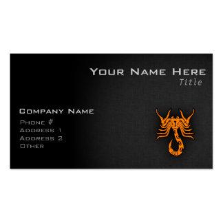 Escorpión anaranjado tarjeta de negocio