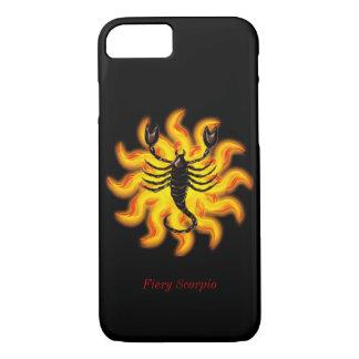 Escorpión ardiente funda iPhone 7